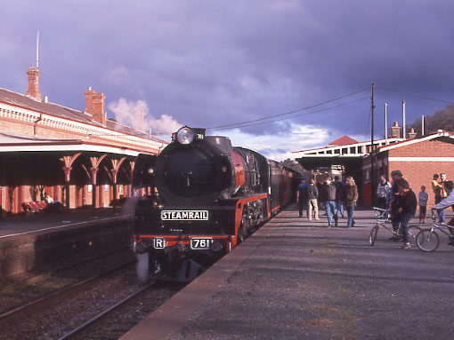 Moama Australia  City new picture : R761 during a stop at Castlemaine.