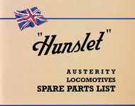 Hunslet Austerity Locomotives Spare Parts List