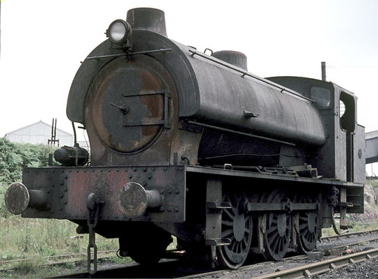 Hunslet No.3171 of 1944. This locomotive is seen at North Gawber colliery in 1968. An accident saw the locomotive end up on its side. After this event, not surprisingly, it never ran again. © Geoff Plumb