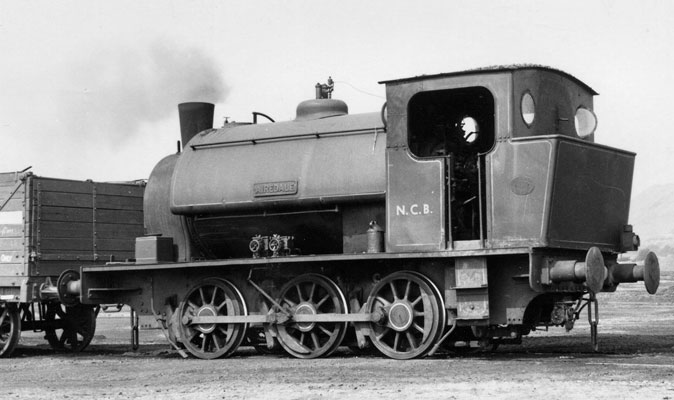 "Hunslet No.1440 of 1923. This loco, named 'Airedale' was the very first of what became the standard 15"" Hunslet type. Note the underfeed stoker under the bunker. The exposed nature of the parts shows why many locos were fitted with protector plates beneath the coupling hook. This loco is now resident on the Embsay and Bolton Abbey Steam Railway. © Jim Peden, Courtesy of YDRMT"