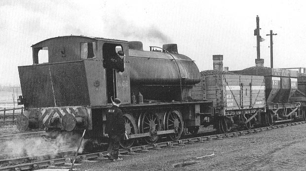Hunslet No.2414 of 1942. This locomotive may look like an Austerity type but it is in fact a class 50550. It is seen above in coal board service numbered S.112. © Mike Wood