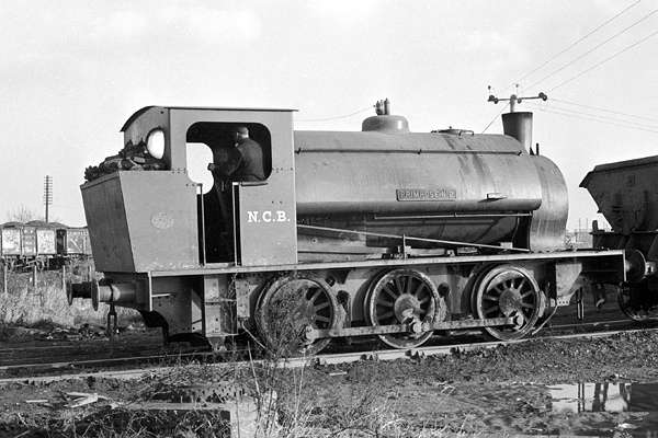 'Primrose No.2' in service at Peckfield colliery. The locomotive appears to have already lost the underfeed stoker at this point. December 1971. © Steve Price, courtesy of G.A.Cryer