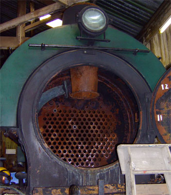 As noted above current best practice is to split the mixing chamber and diffuser into two pieces so as to aid access to the tubes and tubeplate. In preservation this is precisely what has been done on the Embsay and Bolton Abbey Railway's Austerity 'Monckton No.1'. 11 June 2006