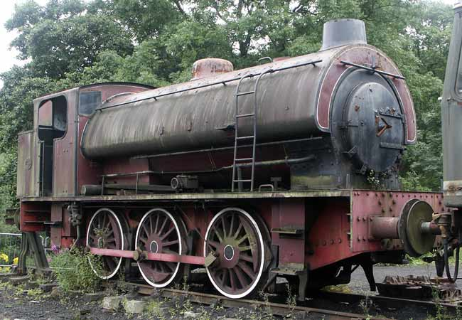 Hunslet No.3180 of 1944, 'Antwerp' seen stored at Grosmont on the North Yorkshire Moore Railway. August 1 2005