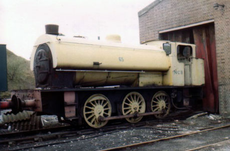 Hunslet 3889 of 1964 at Cadley Hill Colliery. This locomotive was the penultimate standard gauge industrial steam locomotive produced in the UK for UK use. This loco is now at Rutland Railway Museum. April 19 1980. � Geoff Pethick