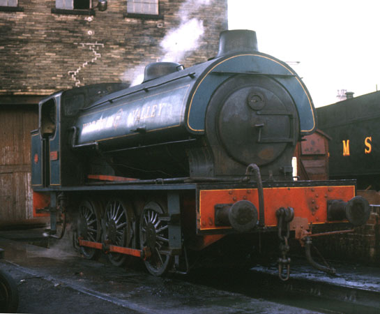 Fred on shed at Haworth. 1975. © Roger Griffiths