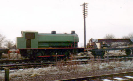 Hunslet 3890 of 1964, NCB 66 at Quainton, Buckinghamshire Railway Centre. This is the last Austerity to be built and the final industrial steam locomotive built for UK use. January 1 1980. � Geoff Pethick