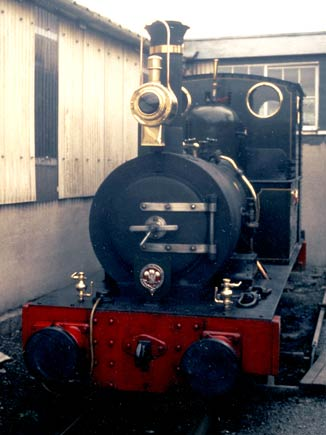 Nigel's favourite locomotive - Talyllyn Railway No.2 Dolgoch is seen with one of the lamps at Pendre yard. © Nigel A. H. Day