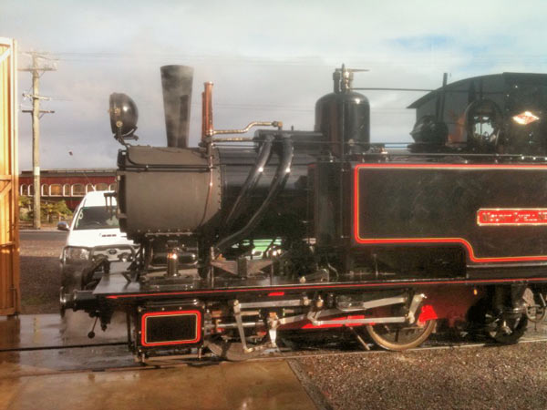 So pleased with the modification of No.5 the railway has not waited for No.3 to go in for its overhaul to fit it with a Lempor. As can be seen this time a wider diffuser, which will further improve the exhaust system's performance, has been fitted. © Ben Elliot.