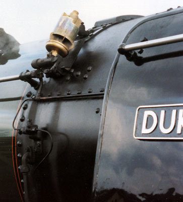 Another of Nigel's whistles was carried for a while on BR Class 8 4-6-2 71000 Duke of Gloucester. © Nigel A. H. Day