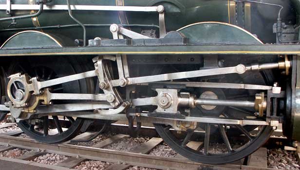 030C815 is equipped with Gooch valvegear. Whilst in the UK such valvegear would have been found in-between the frames it is refreshing to see it outside, especially considering the vintage of the locomotive ! October 9 2003