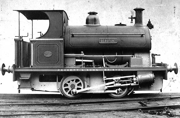 Peckett & Sons E Class locomotive Works No. 1011 of 12/1903, 'Beaufort' supplied to Ebbw Vale Co., Ebbw Vale, Glamorganshire