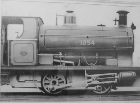 Peckett & Sons E Class locomotive Works No. 1054 of 7/1907, supplied to Loughor Colliery Co., Loughor, Glamorganshire