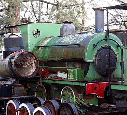 "No.1069 of 1905. This 3'6"" gauge locomotive is seen when available for sale in 2009. Built new for the Mount Morgan Gold Mining Co. Ltd of Australia 1069 was withdrawn in 1955. For many years it was on display at St Joseph's Convent School, Mount Isa. It later joined the collection of Jeff Daly in Melbourne. © Peter Newett"