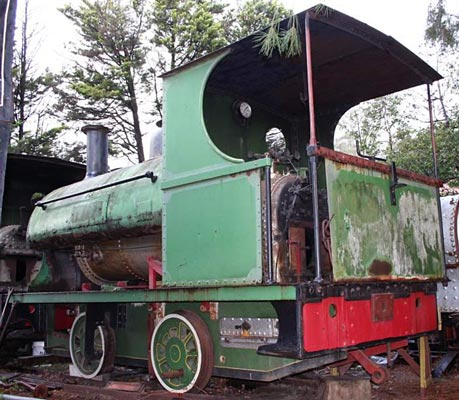 "No.1069 of 1905. This 3'6"" gauge locomotive is seen when available for sale in 2009. Built new for the Mount Morgan Gold Mining Co. Ltd of Australia 1069 was withdrawn in 1955. For many years it was on display at St Joseph's Convent School, Mount Isa. It later joined the collection of Jeff Daly of Melbourne. © Peter Newett"