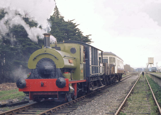 No.1163 on test at Minehead alongside the ¼ mile long platform. During the loco's time on the West Somerset Railway it was used to haul Dunster Signalbox the few miles to Minehead where it today controls activity at the station! Late 1970s. © Simon Bowditch