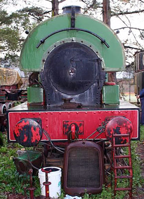 "No.1174 of 1908. A 3'6"" gauge R1 constructed for the Mount Morgan Gold Mining Co. Ltd of Rockhampton, Australia. It later moved to work at Mount Isa before being preserved at Barkly Highway State School, Soldiers Hill, Mount Isa. In the 1990s it joined the collection of Jeff Daly in Melbourne. © Peter Newett"