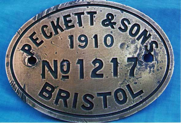 The current remains of No.1217 include this worksplate. © Mark Gough