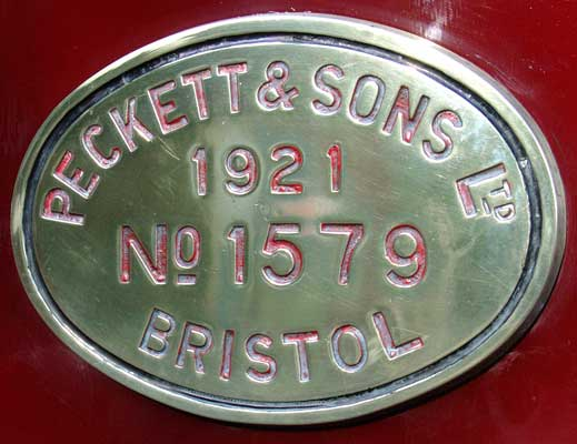 Peckett & Sons Ltd 1921 No.1579