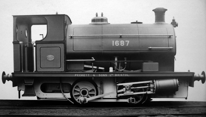 No.1687 of 1926. This locomotive was built for the Co-Operative Wholesale Society, Shilbottle Colliery in Northumberland. © Steve Topping