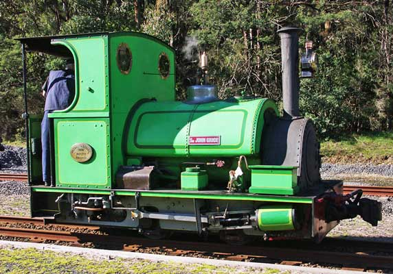 "No.1711 of 1926. This 2'6"" gauge 0-4-0st, now named 'Sir John Grice', was built for the Metropolitan Gas Co., Melbourne, Australia. © Frank Stamford"