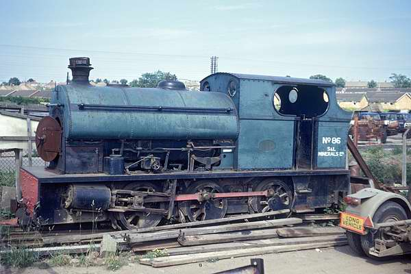 No.1871 of September 1934. This metre gauge 0-6-0st is seen in John.R.Billows yard on Pytchley Rd. Industrial Estate, Kettering. It is now preserved at Irchester Narrow Gauge Railway Museum. 23 June 1973 � G.A.Cryer