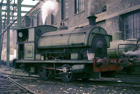 No.1880 of May 1935. This 0-4-0st was named 'Nelson'. It is seen at the Empire Paper Mills in Kent. 21 September 1963 © Geoff Plumb