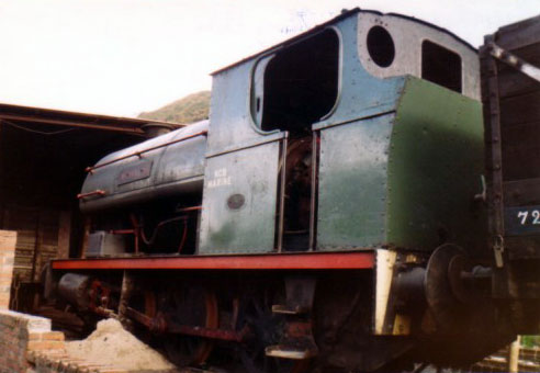 No. 1889 of 1935. Named 'Menelaus' this 0-6-0st is seen at Cwm Colliery in 1979. It is now on the Caledonian Railway in Brechin. © Geoff Pethick