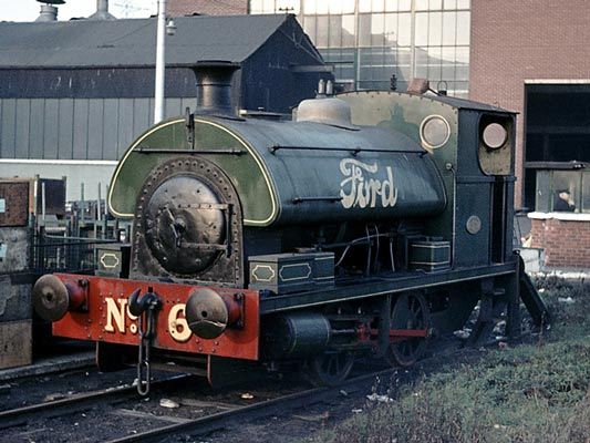 No.1908 of June 1937. This loco operated on Ford's internal railway network at their Dagenham, Essex, plant. It was Ford No.6. January 1964. © Geoff Plumb