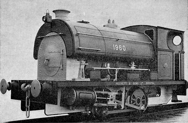No.1960 of November 1938. This locomotive was supplied to Brown Bayley's Steel Works in Sheffield. From 'Model Engineer' 22 November 1962. Thanks to John Wright for supplying the scan.