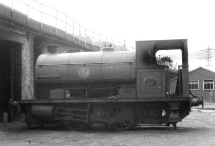 No.1990 of October 1940. This 0-4-0st is named 'Ironbridge No.3' and now resides on the Telford Steam Railway. This photograph was taken at Ironbridge power station in July 1980 when the loco was for sale. © Geoff Pethick