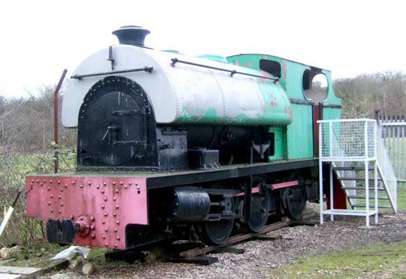 No.2029 of 1942. This large metre gauge 0-6-0st operated at Finedon quarries. It is now preserved at Irchester Narrow Gauge Railway Museum. 28 January 2007