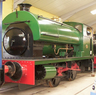No.2085 of 1948. This locomotive was built for Courtaulds Castle Works in Flint. It is now preserved on the island of Jersey at the Pallot Steam, Motor and General Museum. © Dave Marden