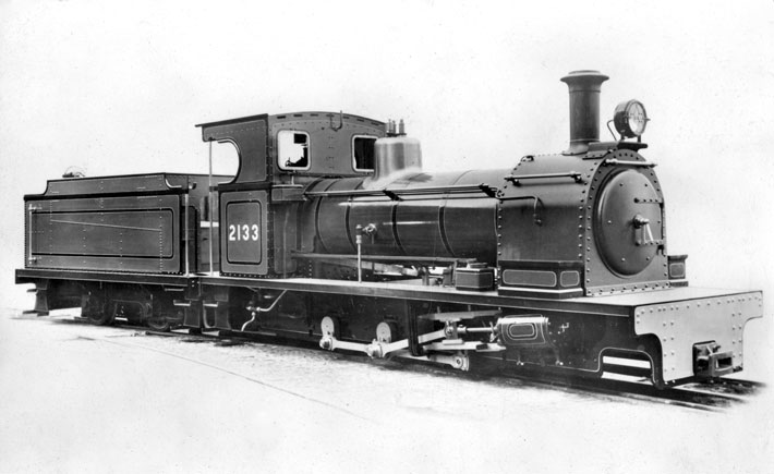 Works number 2133 - a 0-6-0 tender loco for export.