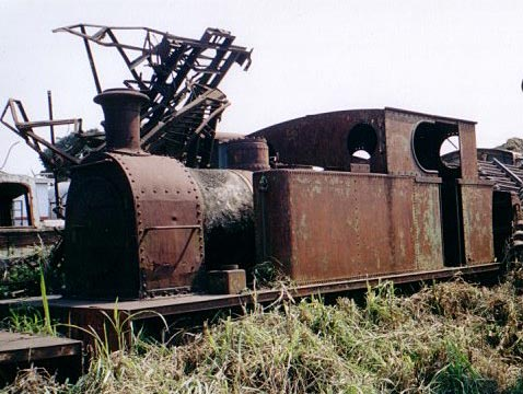 "No.2141 of February 1954. This 0-6-0t was built for 3' gauge operation but has been converted to run on 3'6"" following the connection of its home base to the national 3'6"" gauge network of Mozambique. It is seen at Marromeu, Mozambique, awaiting rescue by the Sandstone Heritage Trust. © Geoff Pethick"