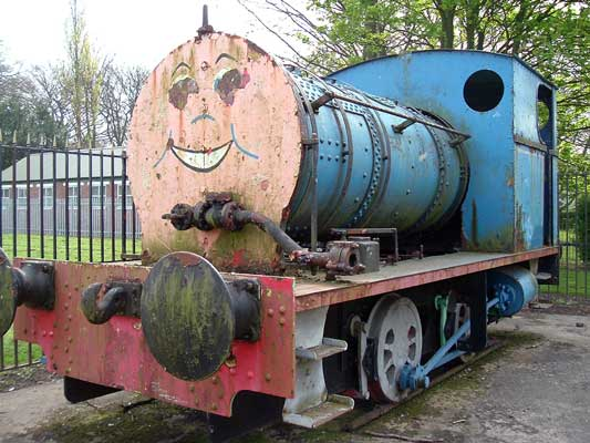 In 2005 it was reported No.2155 had have been put on display new Cadishead bypass in Greater Manchester. This photo shows the loco at its previous location in Irlam. © Graham MacFall