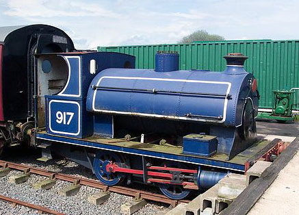 No.917 of 1902. This 0-4-0st operated at Albright & Wilson in Oldbury, Worcestshire from 1930 until 1978 when sold into preservation. The loco is seen at its current home, the Chasewater Railway, to the north of Birmingham. Photo courtesy of Stephen Robb