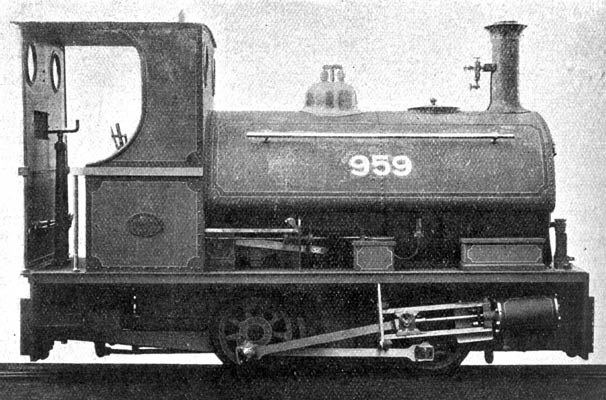 No.959 of 1902. This 3' gauge locomotive was sold to the Swansea Corporation Water Works, Cray Reservoir. Taken from a 1903 edition of the magazine 'The Locomotive'. Courtesy of Dave Marden.