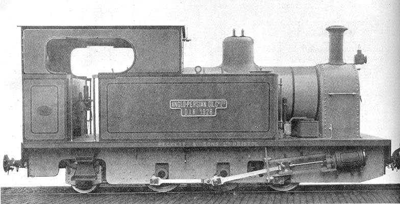 0-6-2 tank locomotive, 2 ft. 6 in gauge, for the Anglo-Persian Oil Co., built by Peckett and Sons, Bristol. This locomotive is No.1750 of February 1928, a Peckett Type M5.
