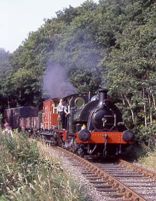 No.2 and No.21 doublehead through Causey Woods. July 30 1994
