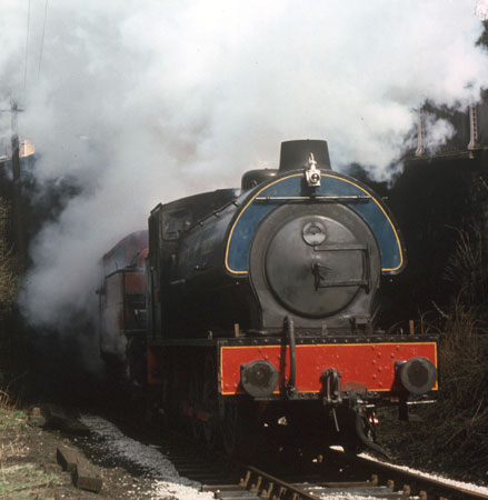 Fred and 2-6-2t 41241 emerge from Ingrow Tunnel. As would be expected from Fred combustion appears to be spot on. March 1976. © Roger Griffiths
