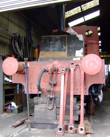 No.1631 at Rolvenden works on the Kent & East Sussex Railway under overhaul. June 27 2006