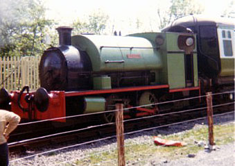 No.1967 of April 1939. Named 'Merlin' this 0-4-0st is now based at the Timothy Hackworth Victorian and Railway Museum in Shildon. This 1979 view shows the loco on the Gwili Railway. © Geoff Pethick