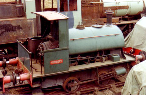No.2012 of 1948. This 0-4-0t, named 'Herbert', is seen at Shackerstone in 1980. © Geoff Pethick