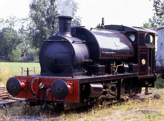 No.2081 of December 1947. Given the running number 11 when in industrial service the loco is seen on the Foxfield Railway. July 1995